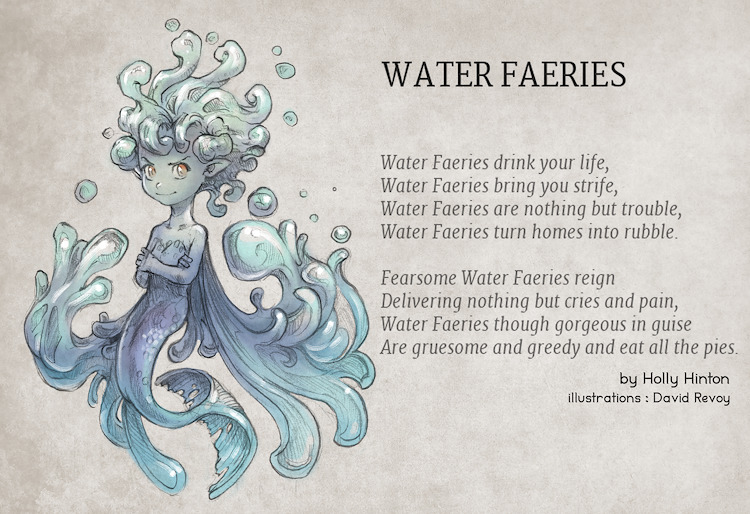 Water Faeries. Poem by Holly Hinton, illustration by David Revoy.