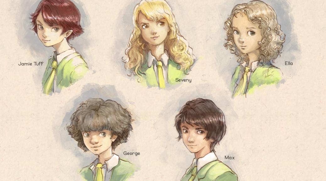 Jamie and friends. Art created by David Revoy.