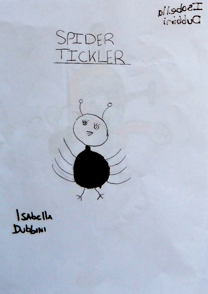Tickling spider by Isabella D